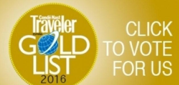 Nominado en la Gold List de Condé Nast