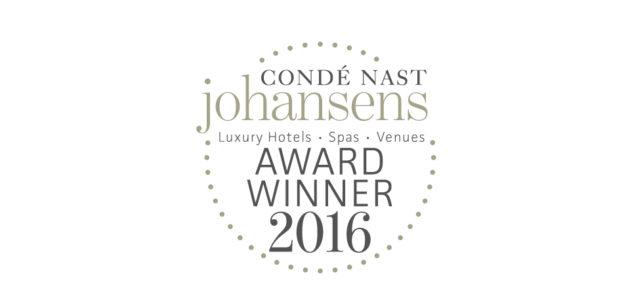 Condé Nast Johansens Award 2016!